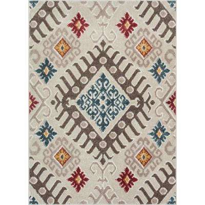 Allegra Soliloquy Traditional Tribal 5 ft. 3 in. x 7 ft. 3 in. Natural Area Rug