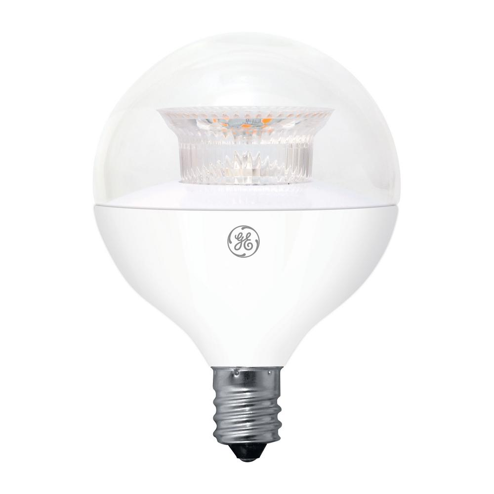 40W Equivalent Soft White (2700K) High Definition G16.5 Globe Clear Dimmable