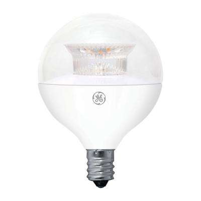 40W Equivalent Soft White (2700K) High Definition G16.5 Globe Clear Dimmable LED Light Bulb (2-Pack)