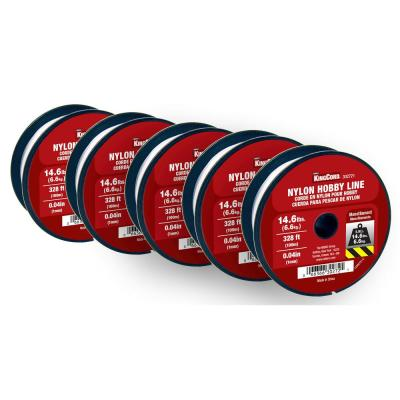 1.0 mm x 100 m (328 ft.) Invisible Monofilament Nylon Line for Hobbies, Crafts and Decorating (5-Pack 1,640 ft. Total)