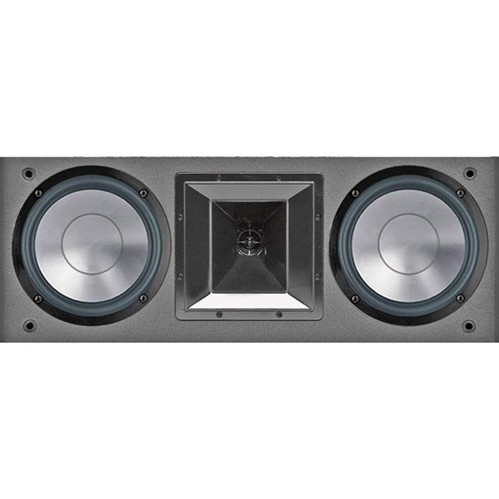 Bic 6 1/2 in. 175-Watt Dual Bookshelf LCR Speaker, Black
