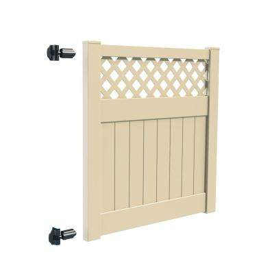 Carlsbad 5 ft. W x 5 ft. H White Vinyl Un-Assembled Fence Gate