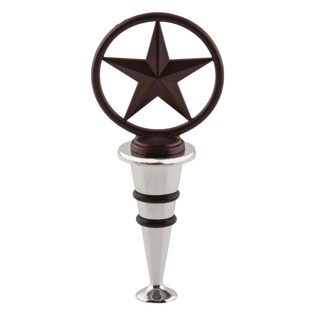 Bronze Western Star Wine Stopper