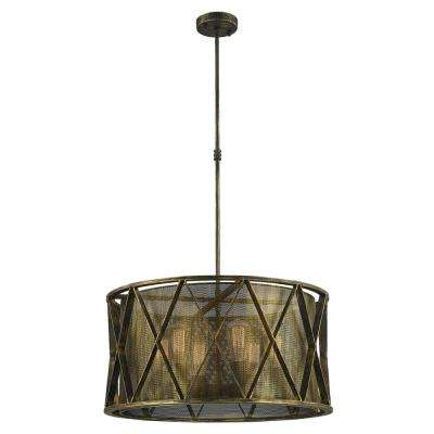 Nautilus 6-Light Antique Bronze Pendant