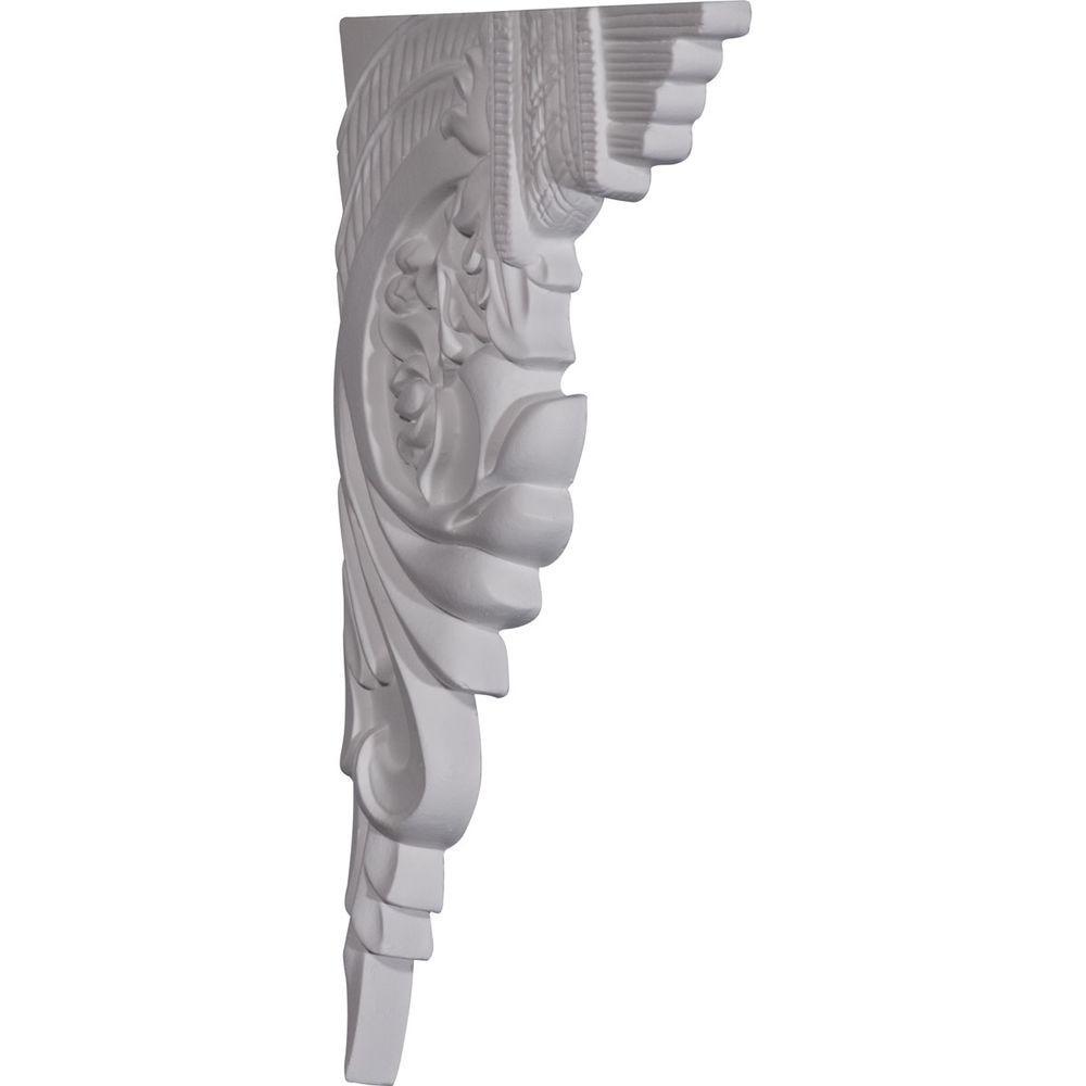 Ekena Millwork 10 5 8 In X 5 8 In X 7 In Primed Polyurethane Telma Left Stair Bracket Sb10x07te L The Home Depot