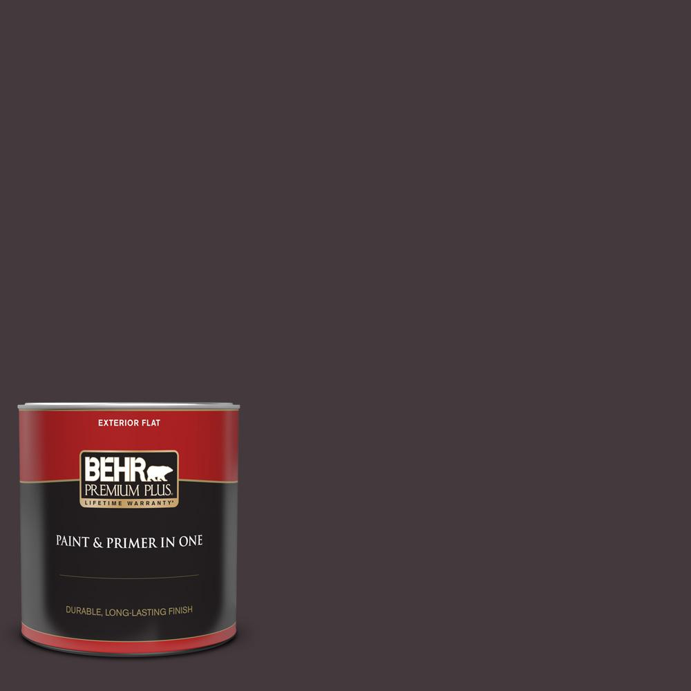 Behr Premium Plus 1 Qt Ppu17 20 Eclectic Purple Flat Exterior Paint And Primer In One 430004 The Home Depot