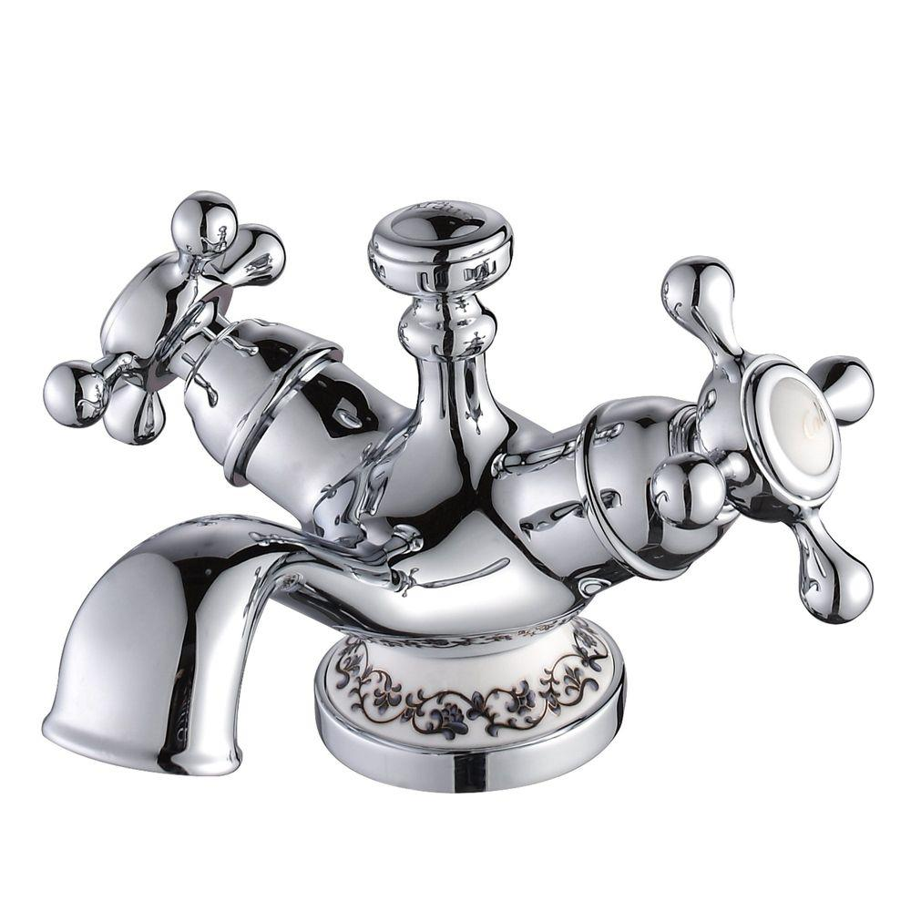 KRAUS Apollo Single Hole 1-Handle Low-Arc Bathroom Faucet in Chrome-DISCONTINUED