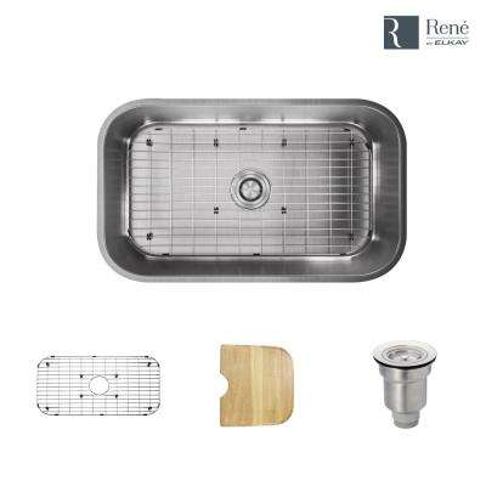 Undermount Stainless Steel 31-1/2 in. Single Bowl Kitchen Sink
