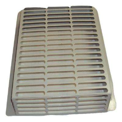 13.75 in. x 12.75 in. x 2.75 in. Powder Coated Galvanized Steel Pest Control Exterior Vent Cover in Taupe