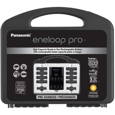 eneloop pro Power Pack Includes 8AA, 2AAA Ni-MH Rechargeable Batteries, Advanced Charger and Plastic Storage Case