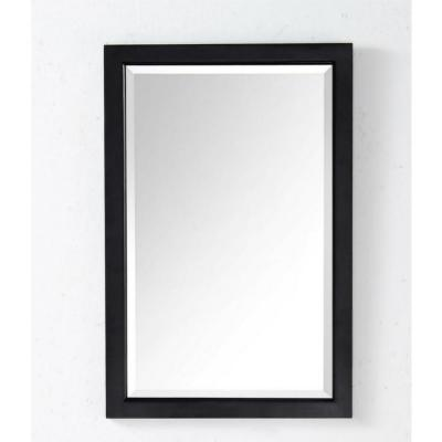 30 in. x 20 in. Framed Wall Mirror in Espresso