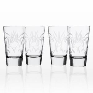 Olive Branch Clear 15.5 oz. Highball Glass (Set of 4)