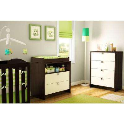 Cookie 2-Drawer Mocha Changing Table