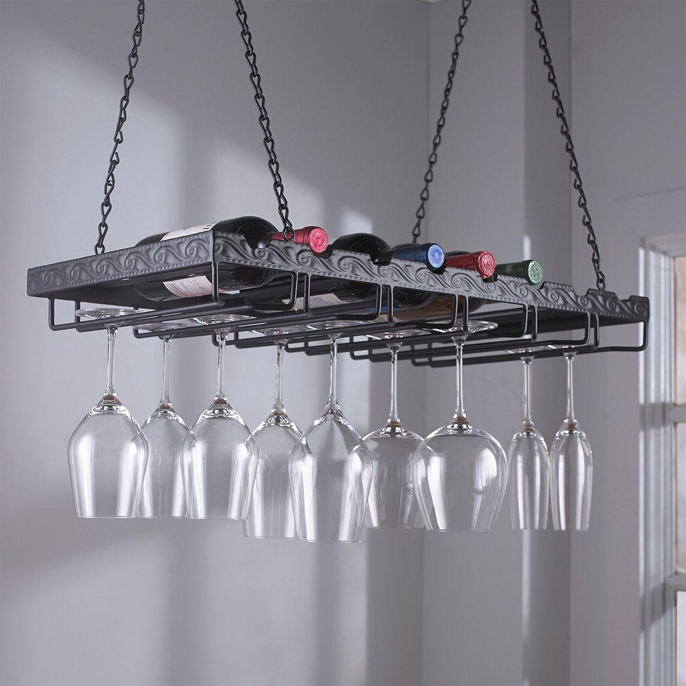 wine enthusiast 13 34 in w x 2 34 - Hanging Wine Glass Rack