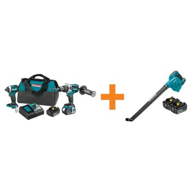 18V LXT Brushless Cordless 2-Pc Combo Kit w/Bonus 18V LXT 5.0Ah Battery (2/Pk) and 18V LXT Cordless Floor Blower