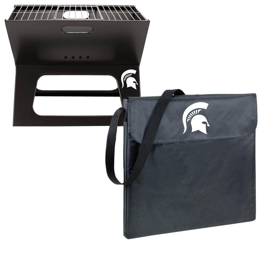 X-Grill Michigan State Folding Portable Charcoal Grill