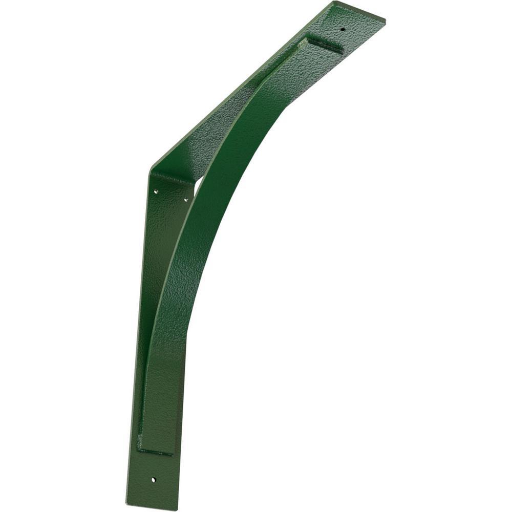 3 in. W x 20 in. H x 20 in. D Hammered Deep Green Morris Steel Bracket