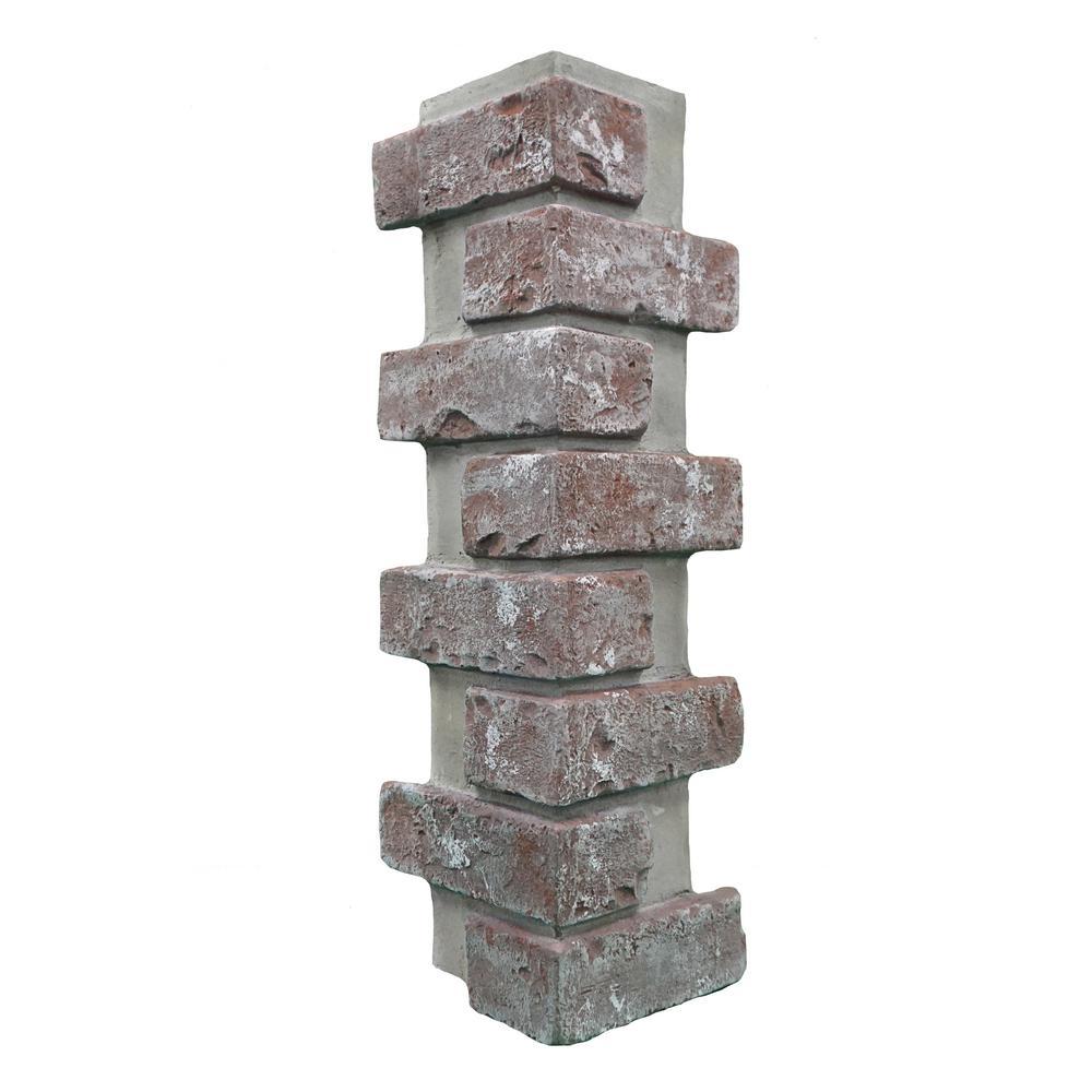 Chicago Brick 22.5 in. x 7 in. Brick Veneer Siding Outside Corner Panel