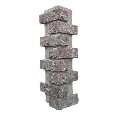 Chicago Brick 22.5 in. x 7 in. Brick Veneer Siding Outside Corner Panel