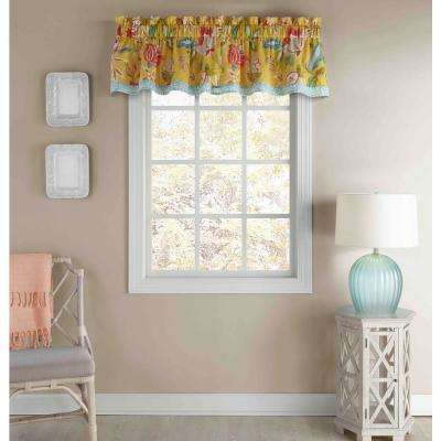 16 in. L Cotton Lined Window Valance in Sunshine