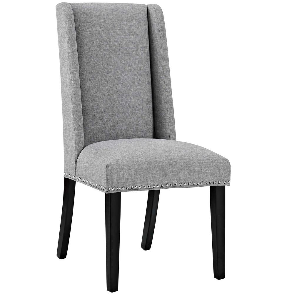 Modway Baron Light Gray Fabric Dining Chair Eei 2233 Lgr The Home
