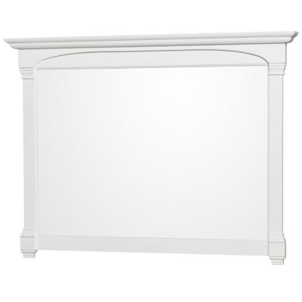 Andover 56 in. W x 41 in. H Framed Rectangular Bathroom Vanity Mirror in White