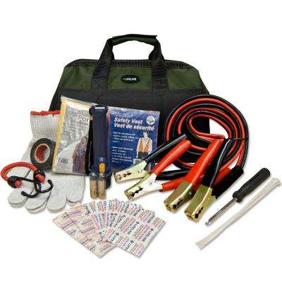 34-Piece Emergency Road Side Safety and First Aid Kit
