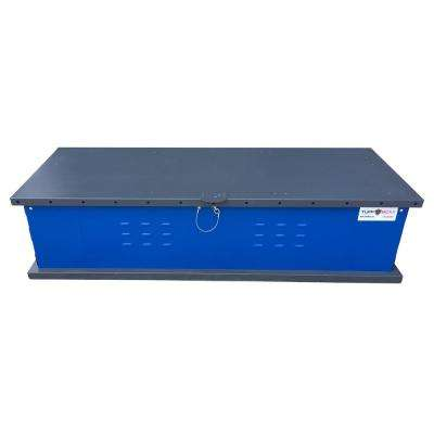 DOCKBOXX 140 Gal. Blue Galvanized Steel Rectangle Storage Container