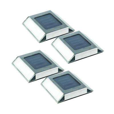 Stainless Steel Outdoor Solar Pathway Light (4-Pack)