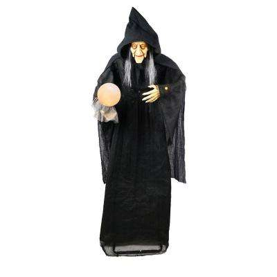 72 in. Standing Witch with Glowing Orb