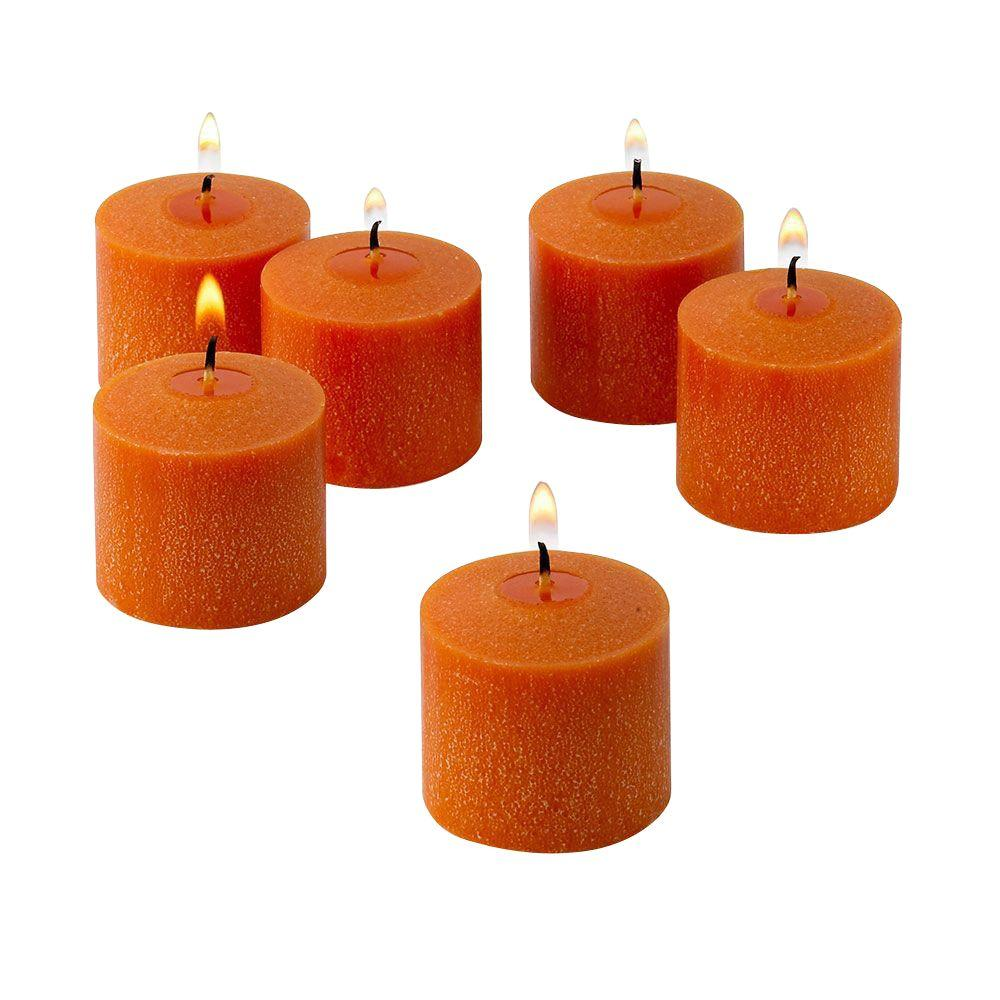 Light In The Dark 10 Hour Orange Unscented Votive Candle (Set of 72)
