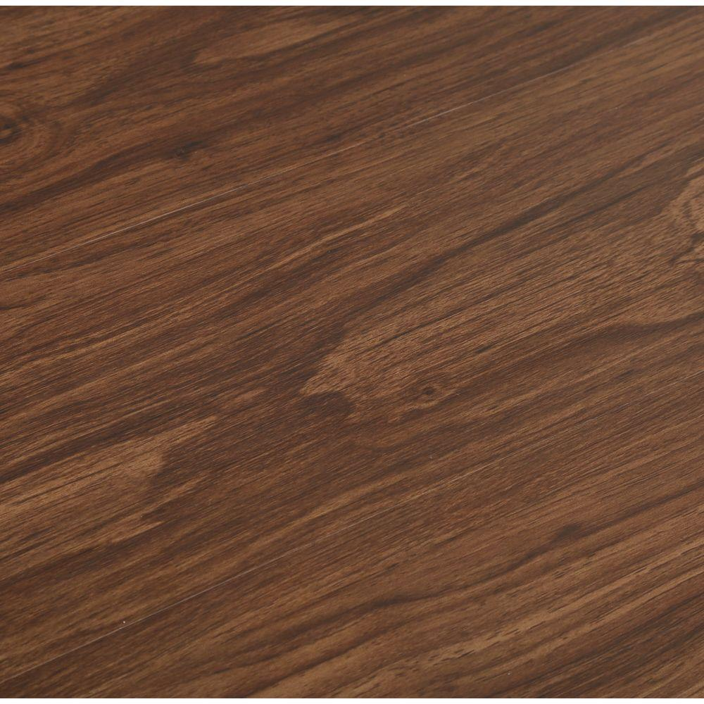 TrafficMASTER Dark Walnut 6 in. x 36 in. Luxury Vinyl Plank Flooring (24 sq. ft. / case)