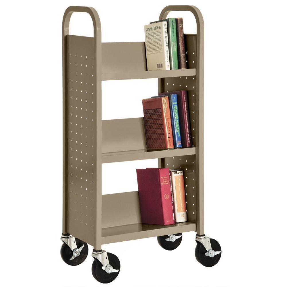 Tropic Sand Mobile Steel Bookcase