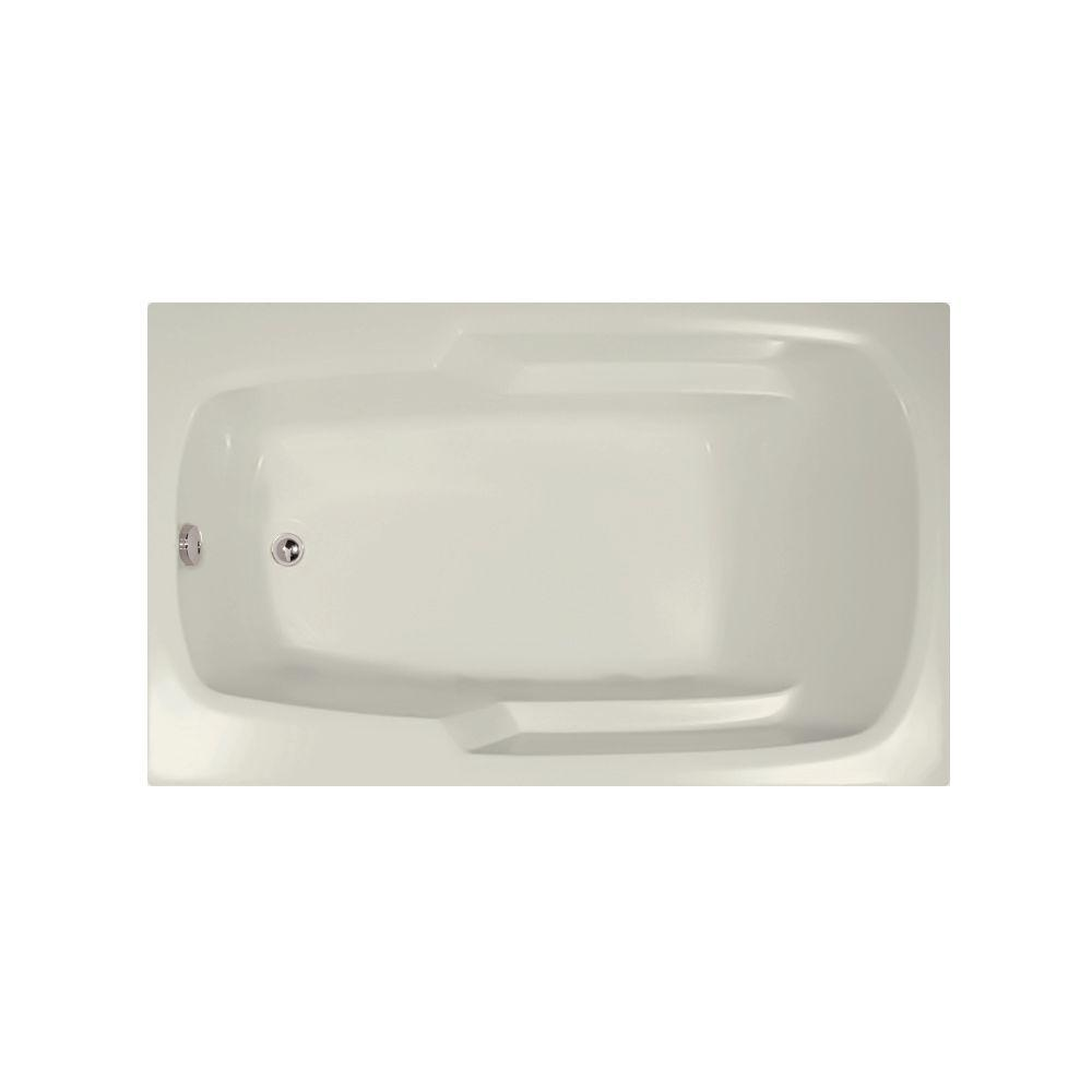 Napa 5.5 ft. Reversible Drain Air Bath Tub in Biscuit