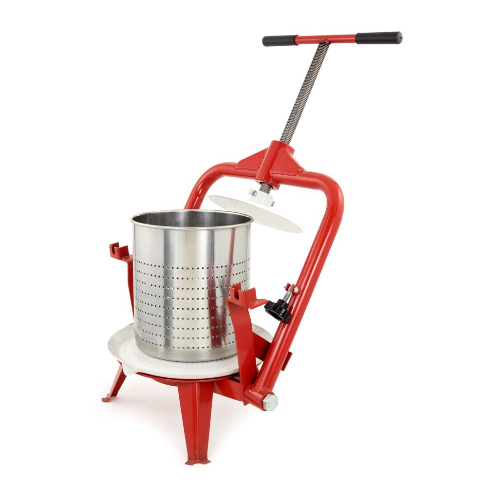 TSM 3.7 Gal. Stainless Steel Red Fruit and Wine Press, Si...