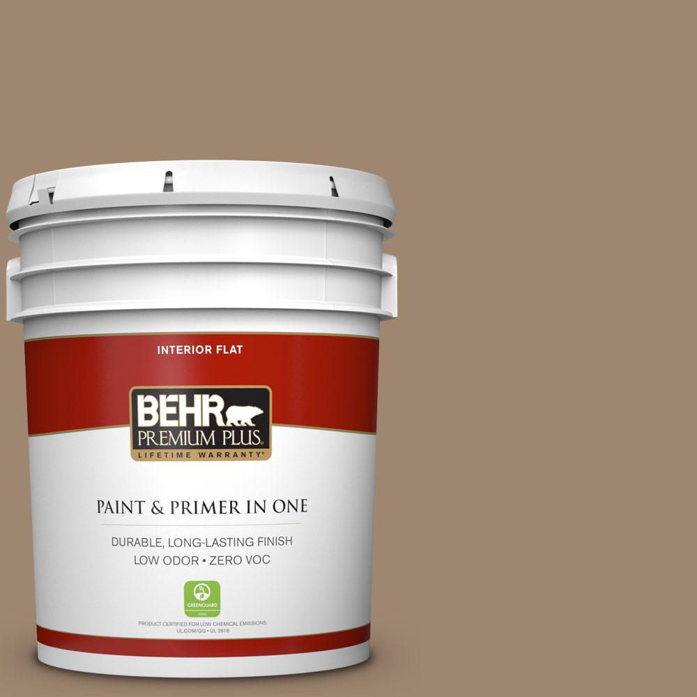 5 gal. #700D-5 Toffee Crunch Zero VOC Flat Interior Paint