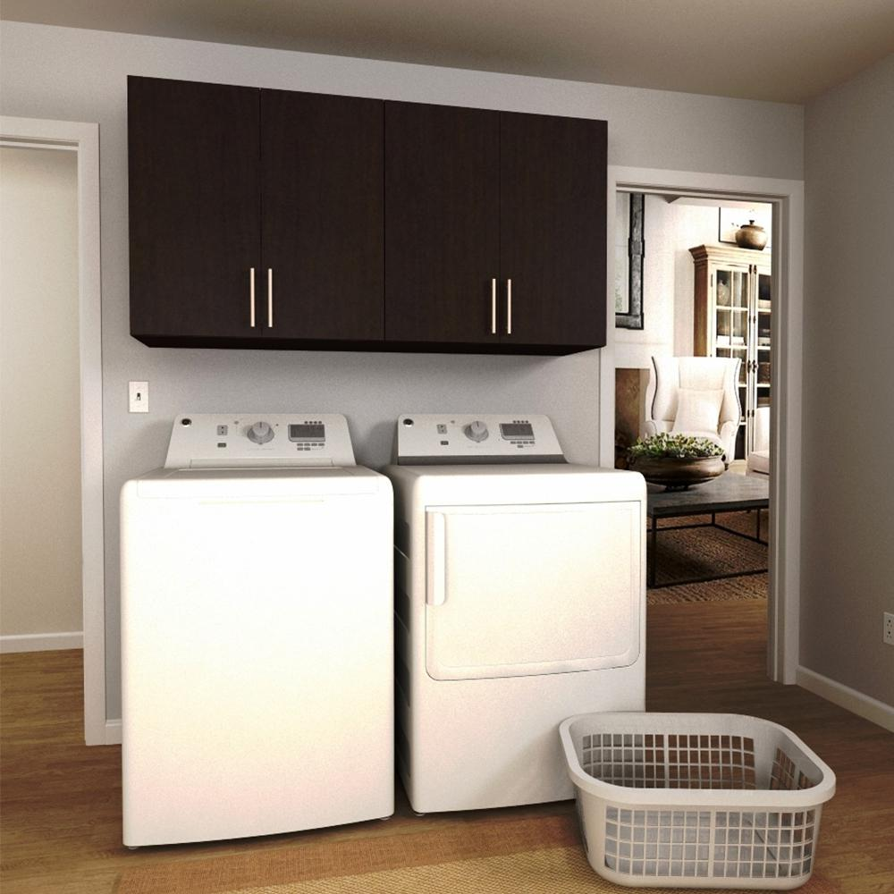 Modifi madison 60 in w white laundry cabinet kit enl60a for Laundry room cabinets