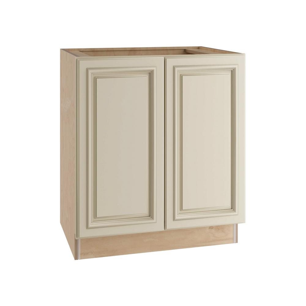 Home Decorators Collection Holden Assembled 30x34.5x24 in. Double Door Base Kitchen Cabinet in Bronze Glaze