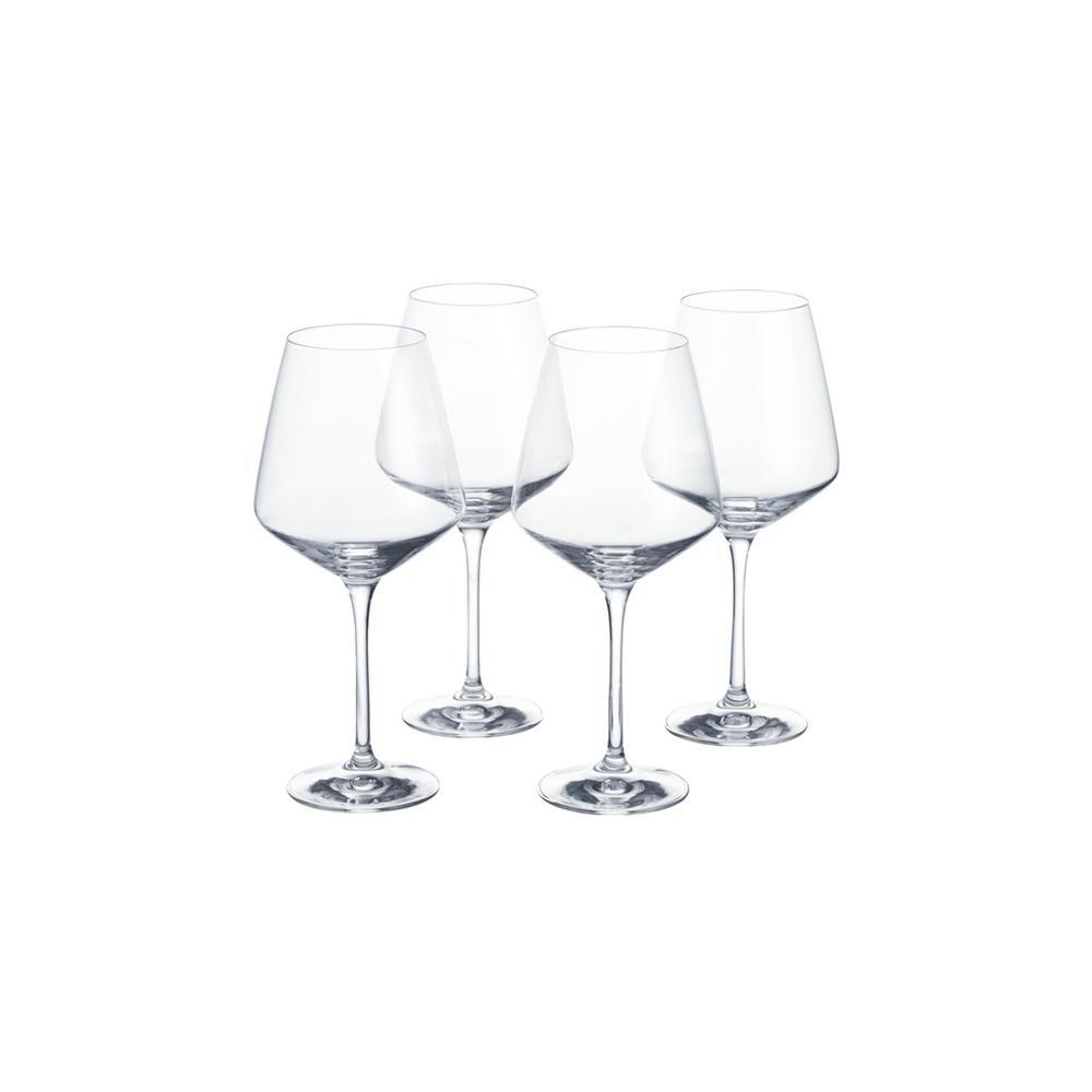 Genoa 26.5 fl. oz. Lead-Free Crystal Red Wine Glasses (Set of 4)