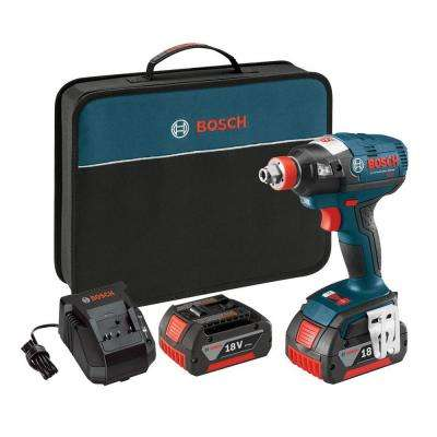 18 Volt Lithium-Ion Cordless Electric 1/2 in. Variable Speed Brushless Socket-Ready Impact Driver Kit