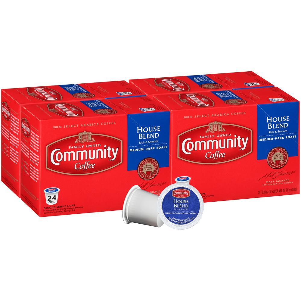 House Blend Medium-Dark Roast Coffee Single Serve Cups (96-Pack)