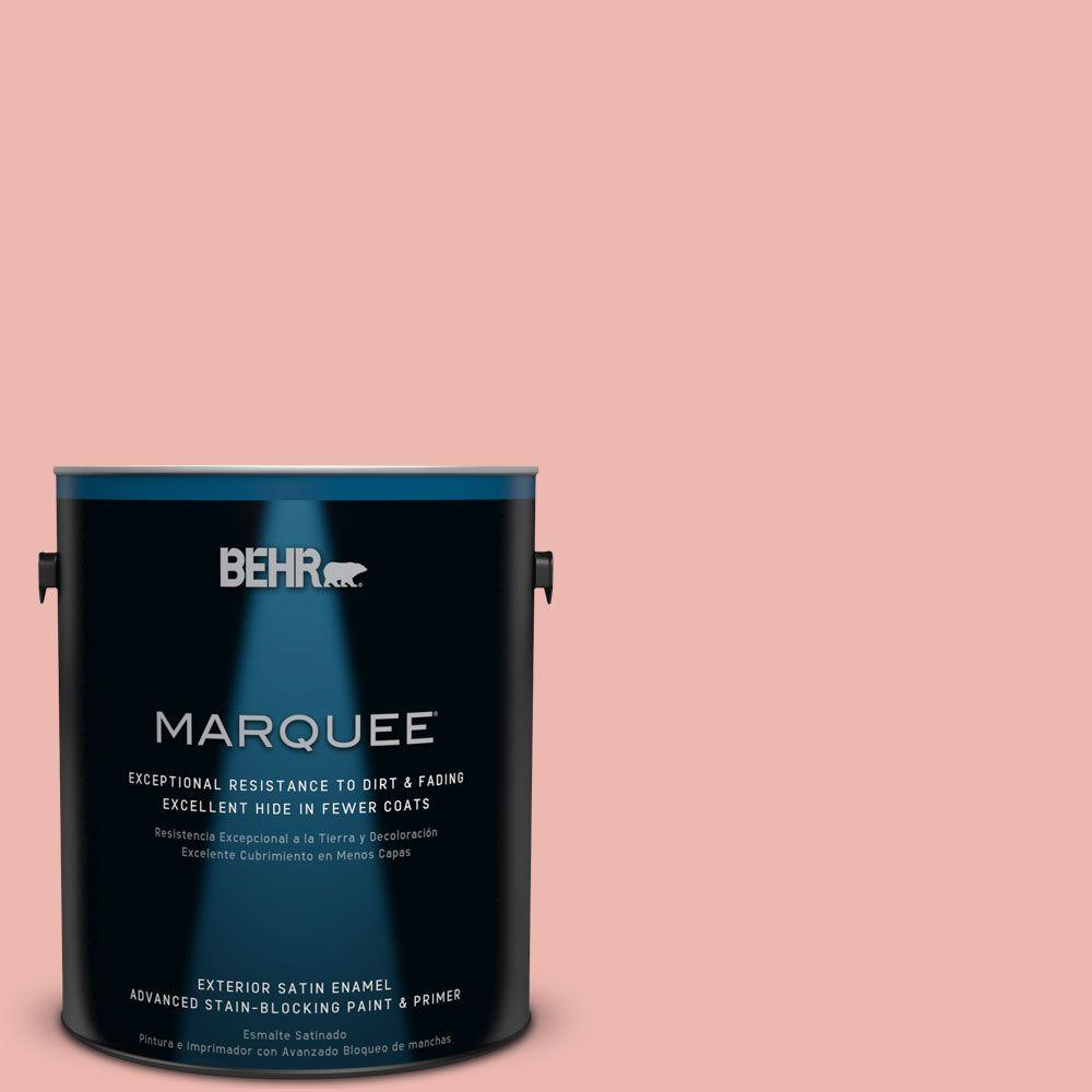 BEHR MARQUEE 1-gal. #M170-3 Carnation Coral Satin Enamel Exterior Paint