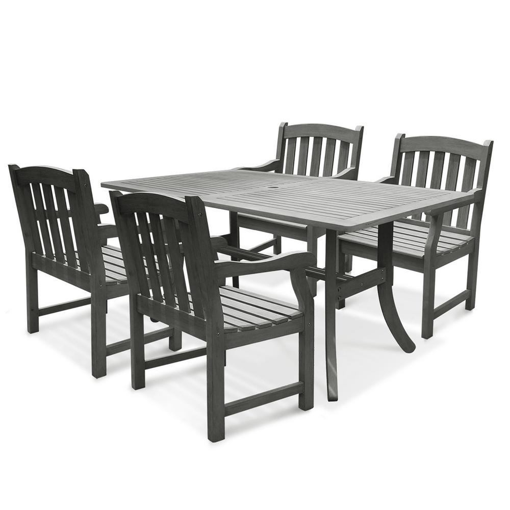Vifah Renaissance Acacia 5 Piece Patio Dining Set with 35  : vifah patio dining sets v1300set6 641000 from www.rout.com size 1000 x 1000 jpeg 67kB