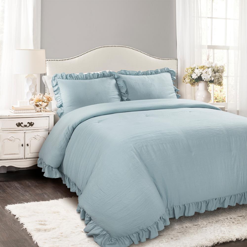 Reyna Comforter Lake Blue 3-Piece King Set