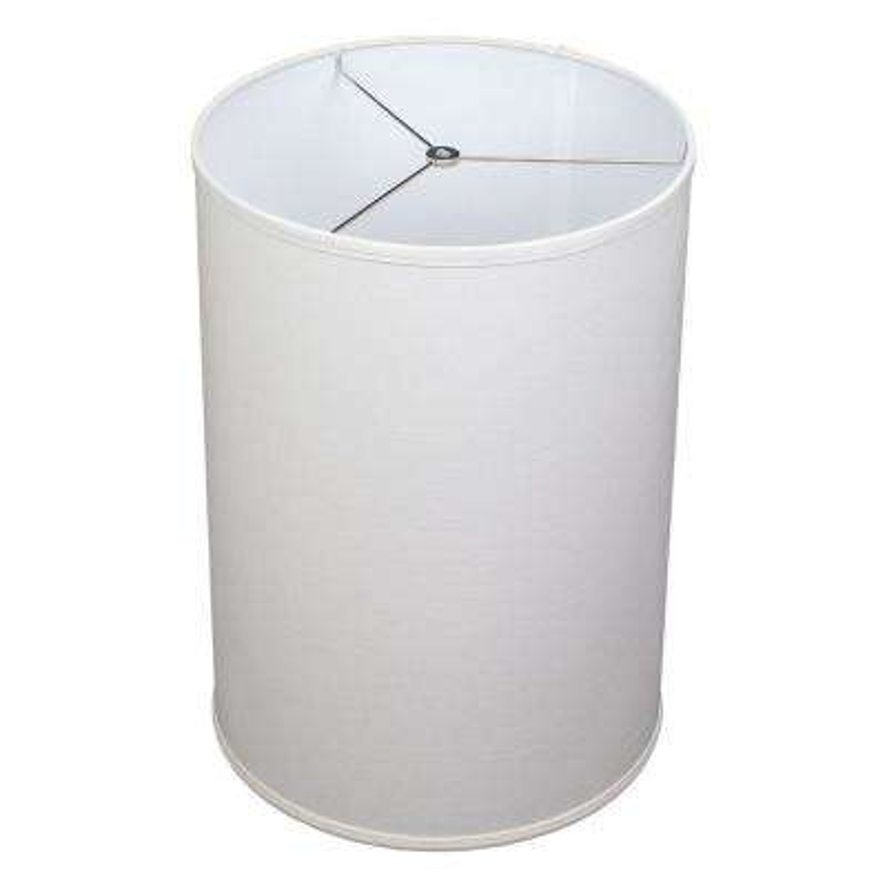14 in. Top Diameter x 14 in. Bottom Diameter x 20 in. Height Designer Linen Off White Drum Lamp Shade