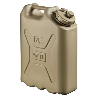 Lightweight BPA 5 Gal. 20 Liter Portable Water Storage Container, Sand