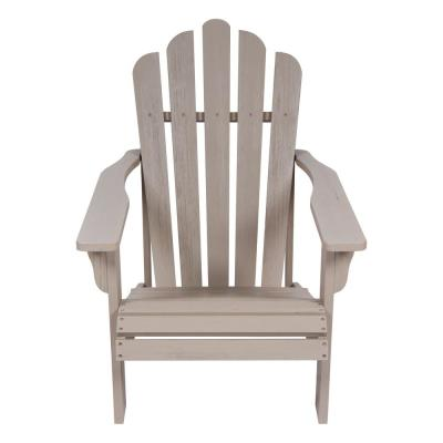 Westport II 36 in. Tall Graystone Cedar Wood HYDRO-TEX Finish Adirondack Chair