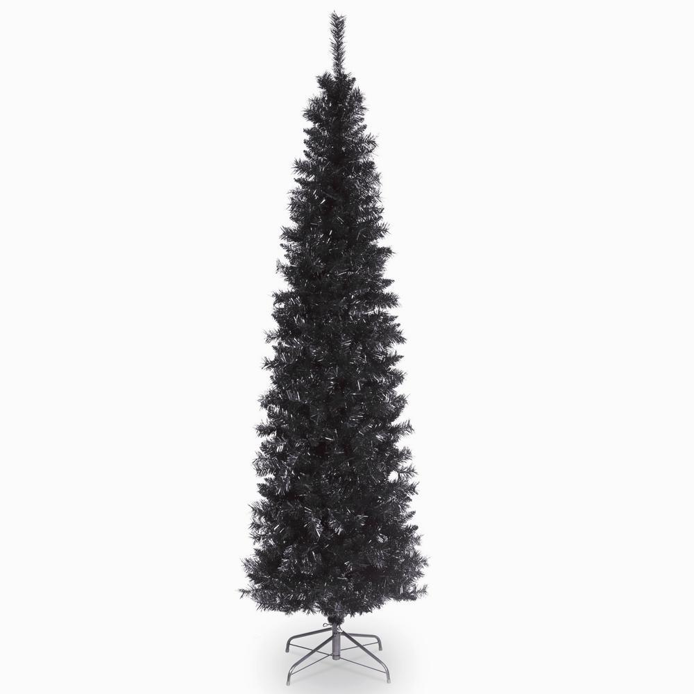 7 ft. Black Tinsel Tree