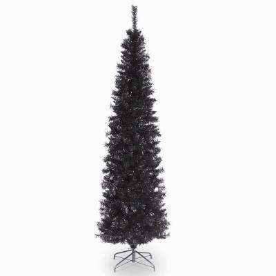 7 ft. Black Tinsel Tree