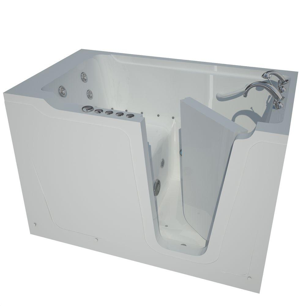 Universal Tubs 5 ft. Right Drain Walk-In Whirlpool and Air Bath Tub in White